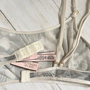 Victoria's Secret Intimates & Sleepwear - VICTORIA'S SECRET Floral Gray Mesh BRA S NWT